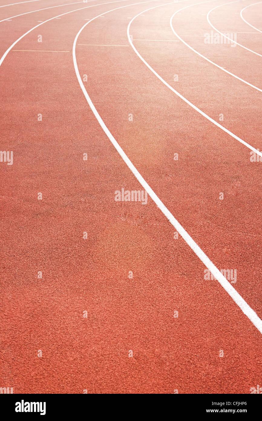 Pista di atletica Immagini Stock