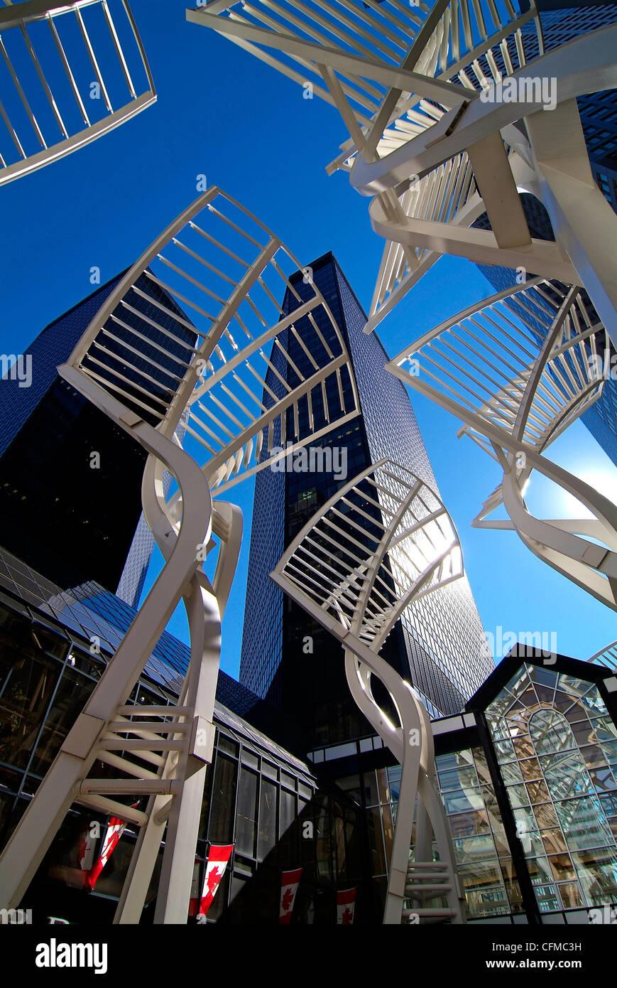 Stephen Avenue, Calgary, Alberta, Canada, America del Nord Immagini Stock