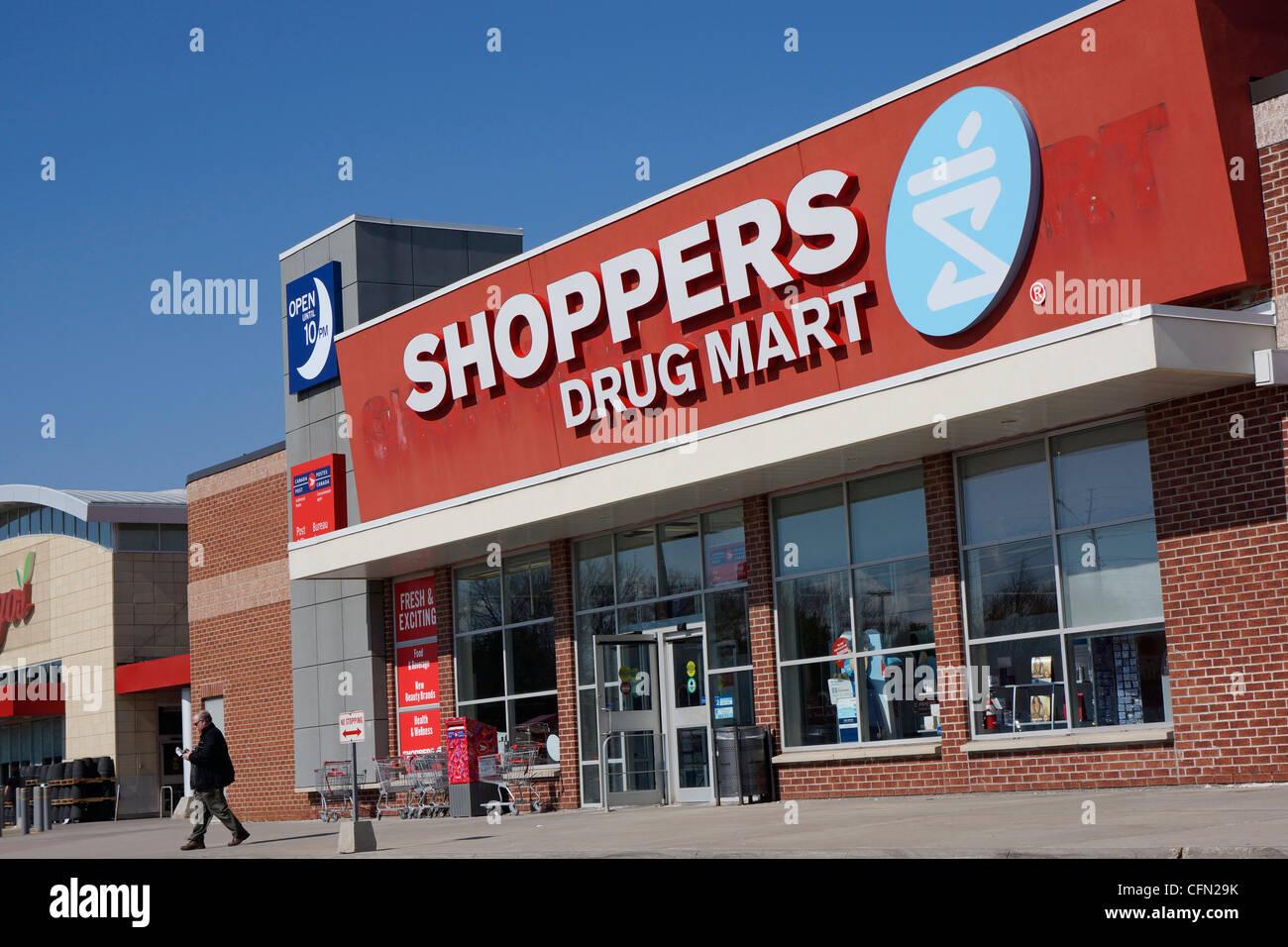 Shoppers Drug Mart farmaco Retail Store Immagini Stock