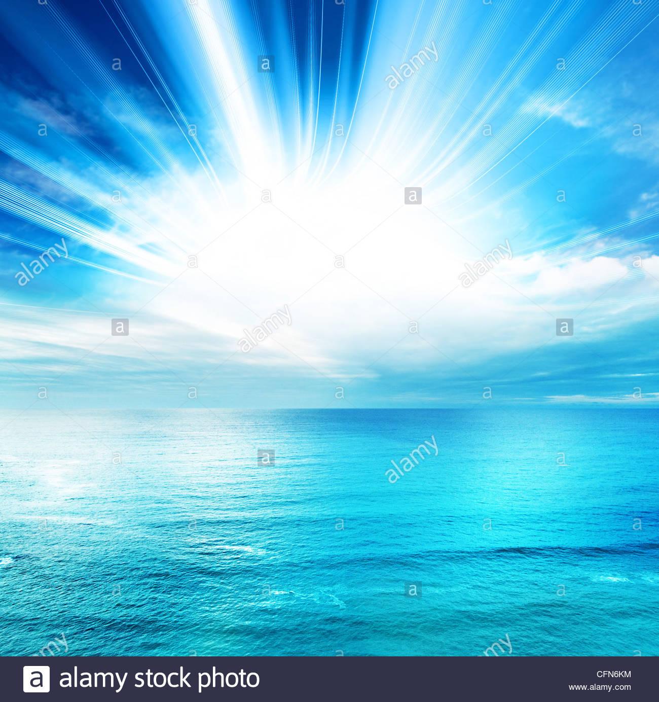 vista mare luminoso Immagini Stock