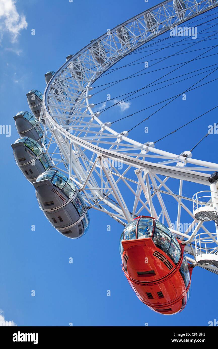 Il Millennium Wheel (London Eye), London, England, Regno Unito, Europa Immagini Stock