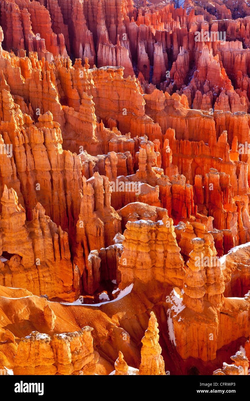 Le formazioni rocciose, Bryce Canyon National Park nello Utah Stati Uniti d'America Immagini Stock