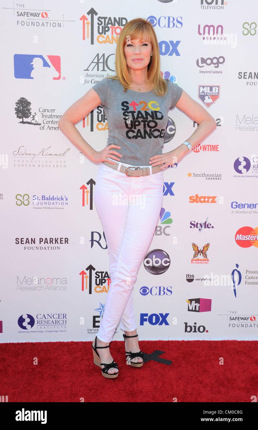 Los Angeles, California, UK. Il 7 settembre 2012. Marg Helgenberger. 'Stand fino al cancro' dell'evento. Immagini Stock
