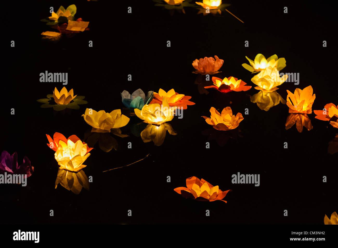 Irlanda del Nord, Belfast, 27/09/2012 - i cinesi Mid-Autumn Festival, che ha una storia che risale a oltre 3000 Immagini Stock