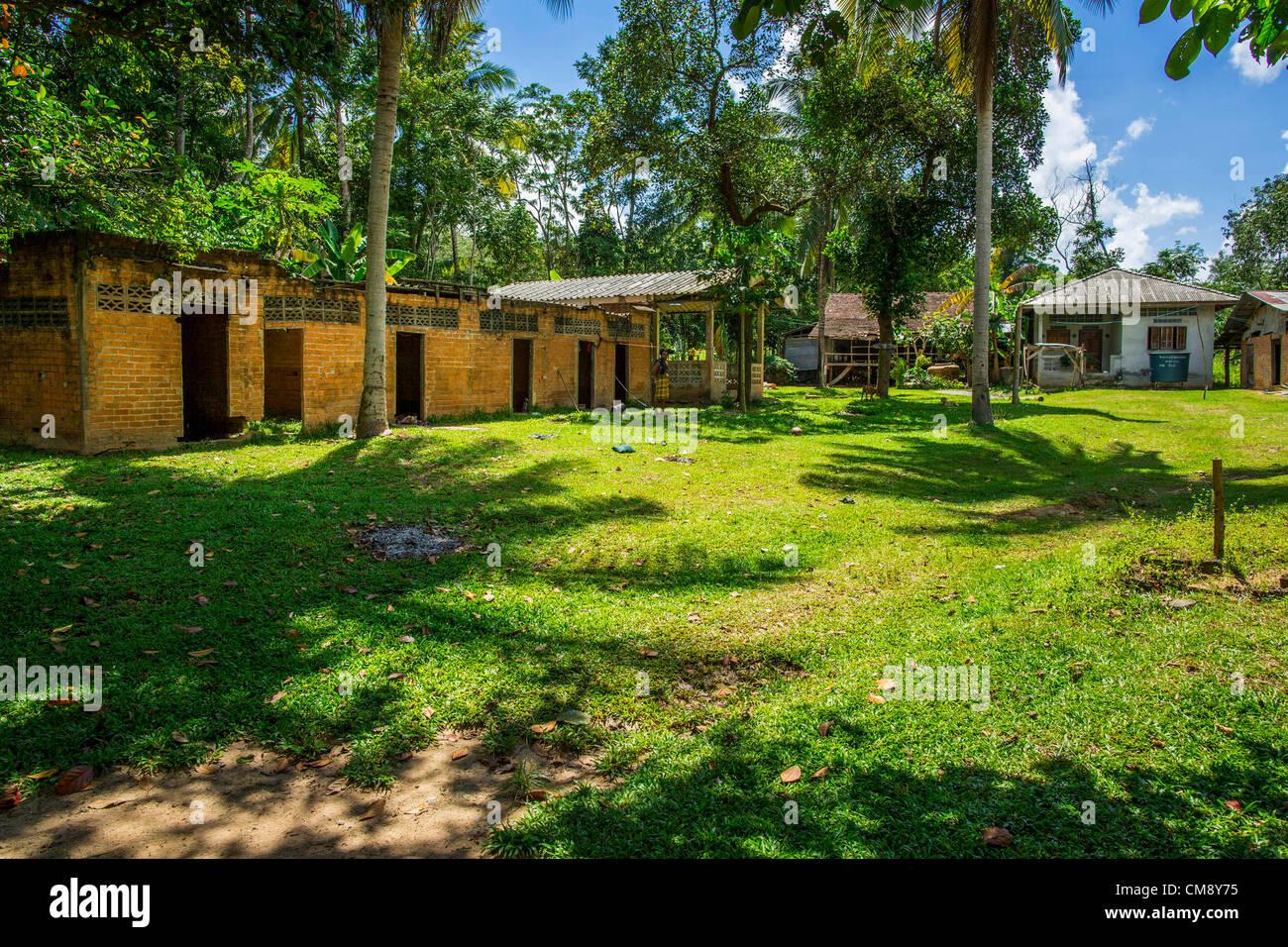 Ottobre 29, 2012 - Mayo, Pattani, Thailandia - Bukit Kong home. La casa ha aperto 27 anni fa come una scuola Pondo, Immagini Stock