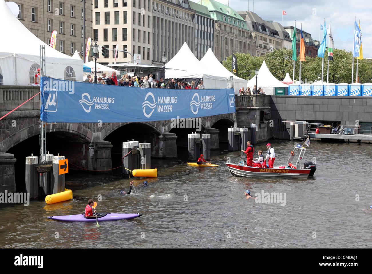 Energia destrogiro Triathlon ITU World Championship Series 2012 Amburgo Immagini Stock