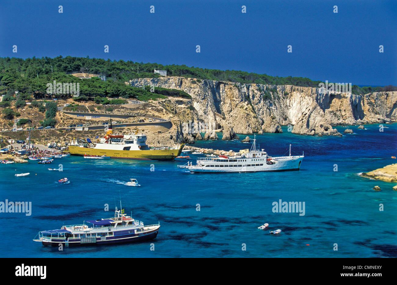 Italia Puglia Gargano Parco nazionale isole Tremiti San Domino Island I Pagliai Immagini Stock
