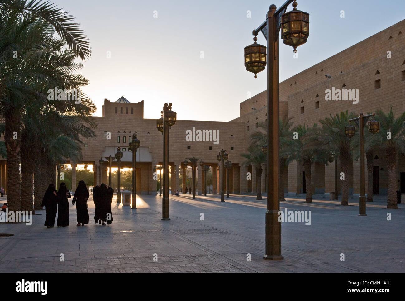 Asia Arabia Saudita Riyadh,la radice quadrata del distretto Al Bathaa Immagini Stock