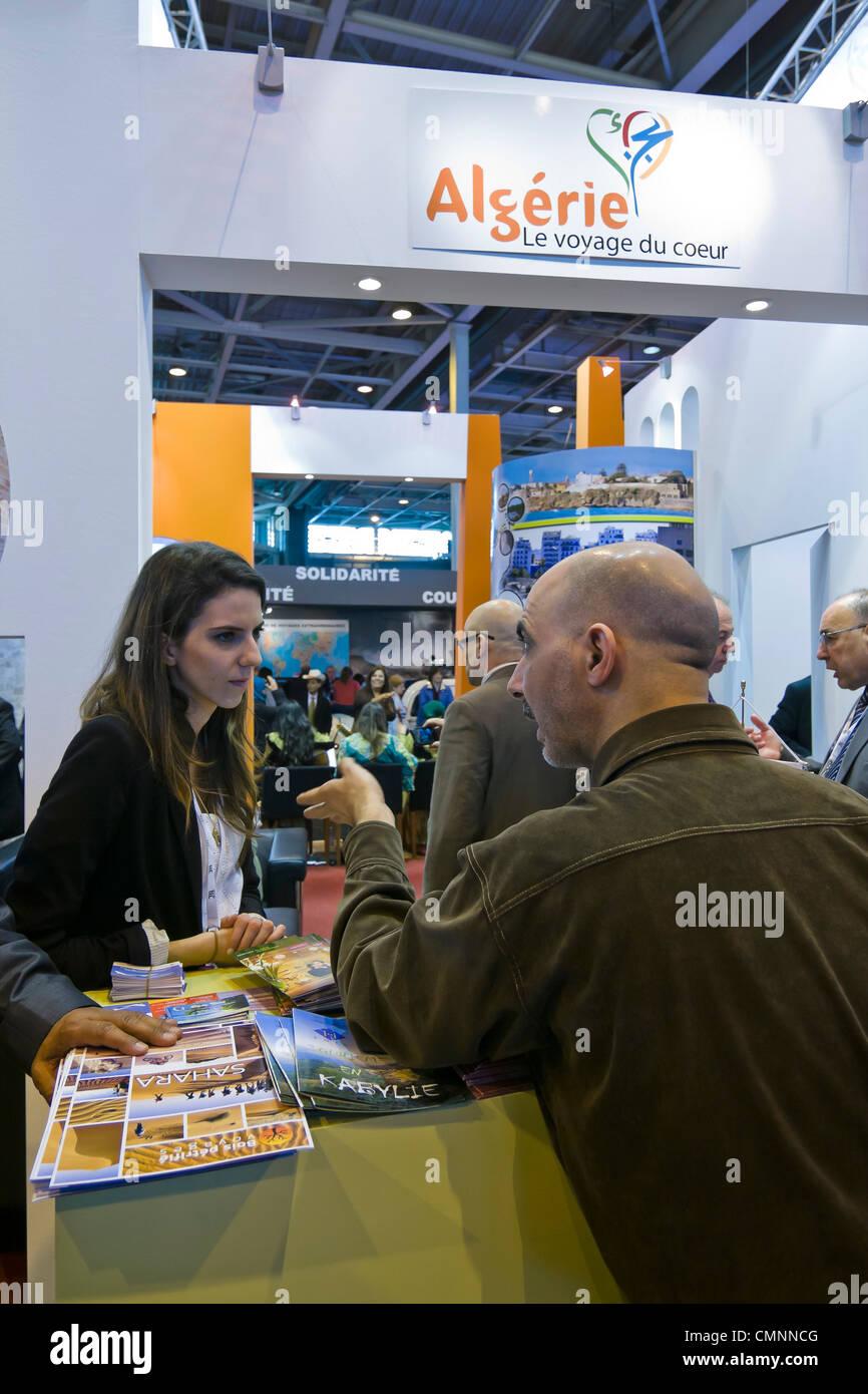 Algeria booth Salone Internazionale del Turismo 2012 Parigi Immagini Stock
