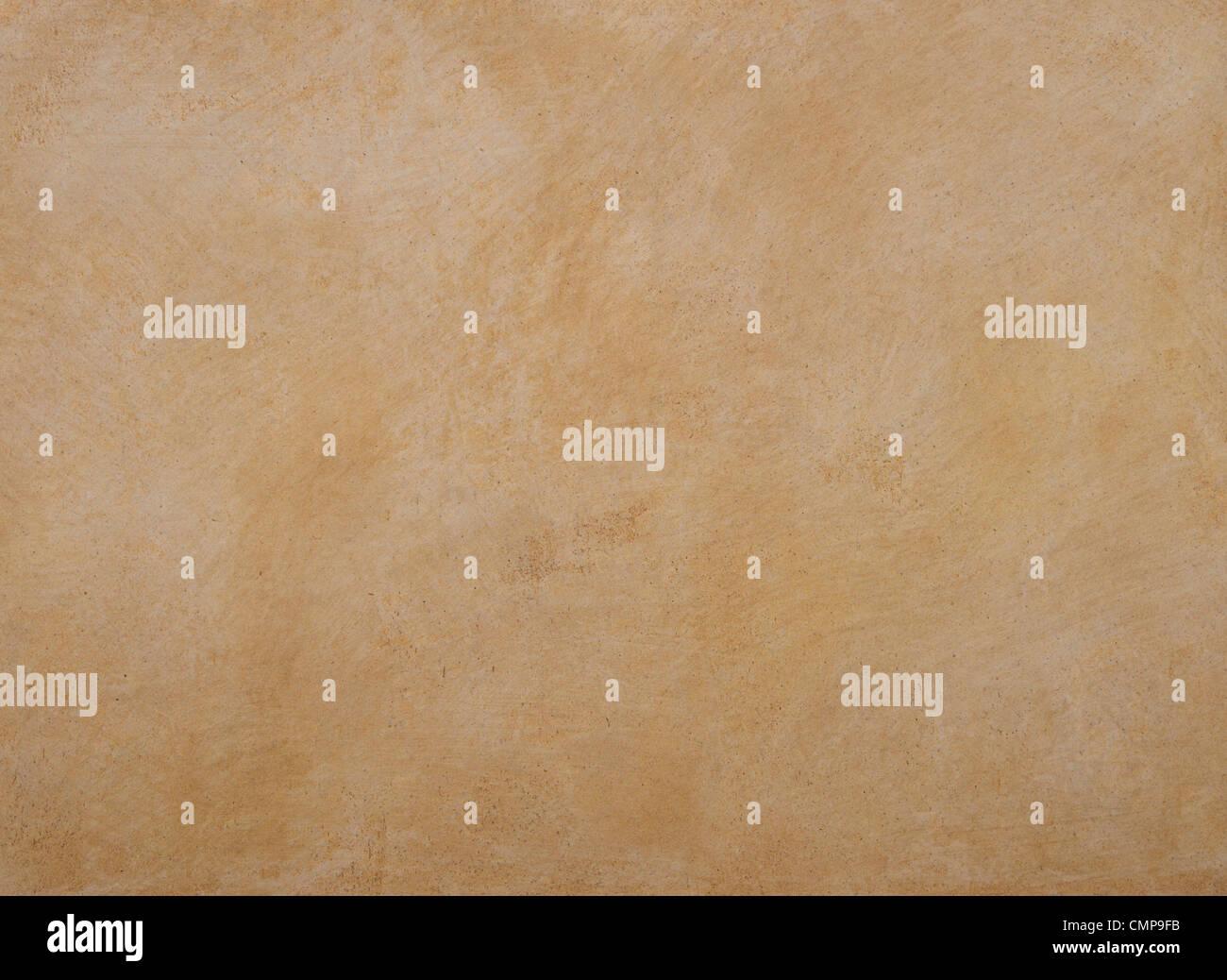 La texture delle pareti sono coperte con stucco arancione Immagini Stock