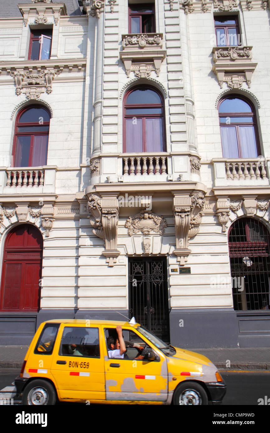 Lima Peru Jiron de la Union Edificio Rímac Casa Roosevelt costruire scene di strada Beaux Arts architettura Immagini Stock