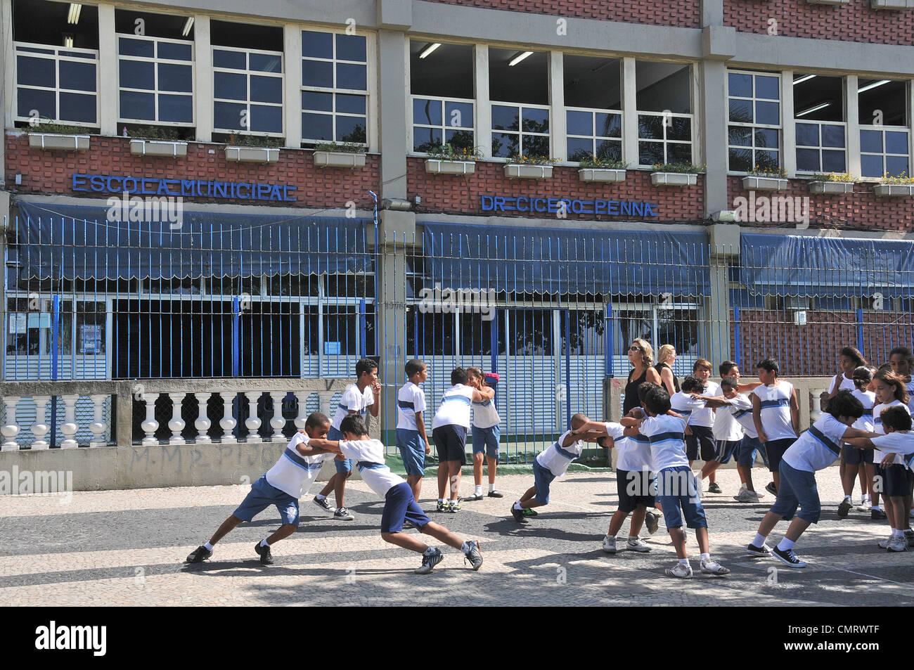 Scuola comunale dr renna cicero avenue atlantica Copacabana di Rio de Janeiro in Brasile Immagini Stock