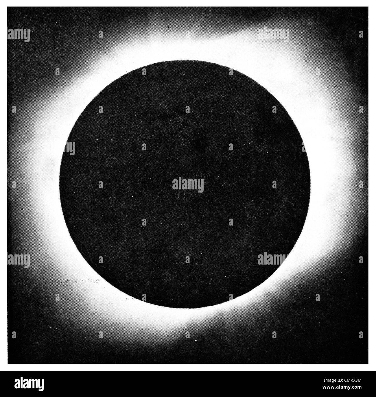 1919 Corona Sun Total Eclipse solare luna Immagini Stock