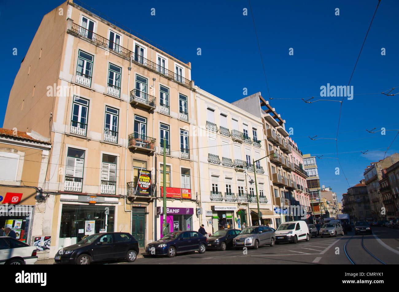Largo da Graca square Graca district Lisbona Portogallo Europa Immagini Stock