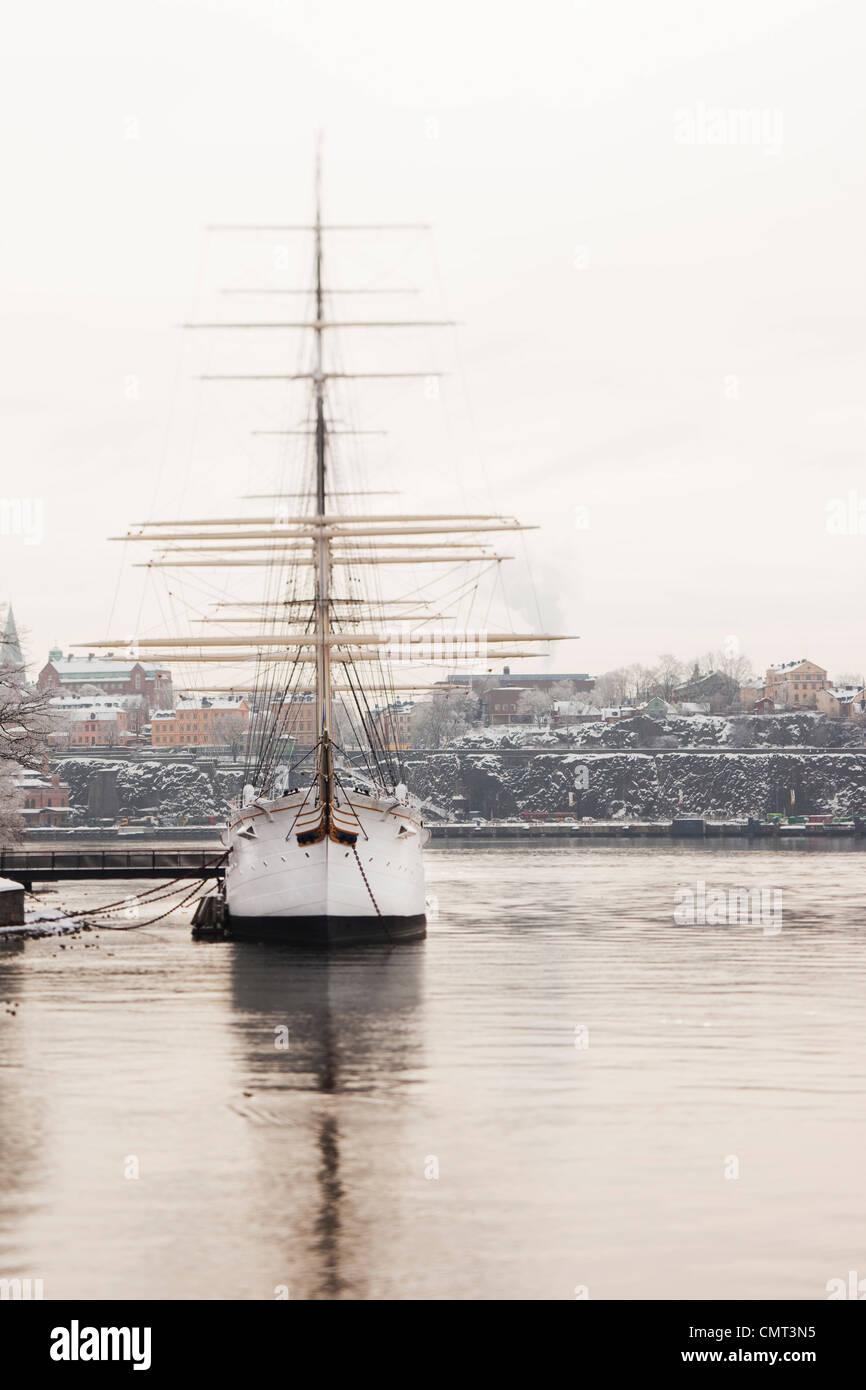 Barca a Stoccolma Immagini Stock