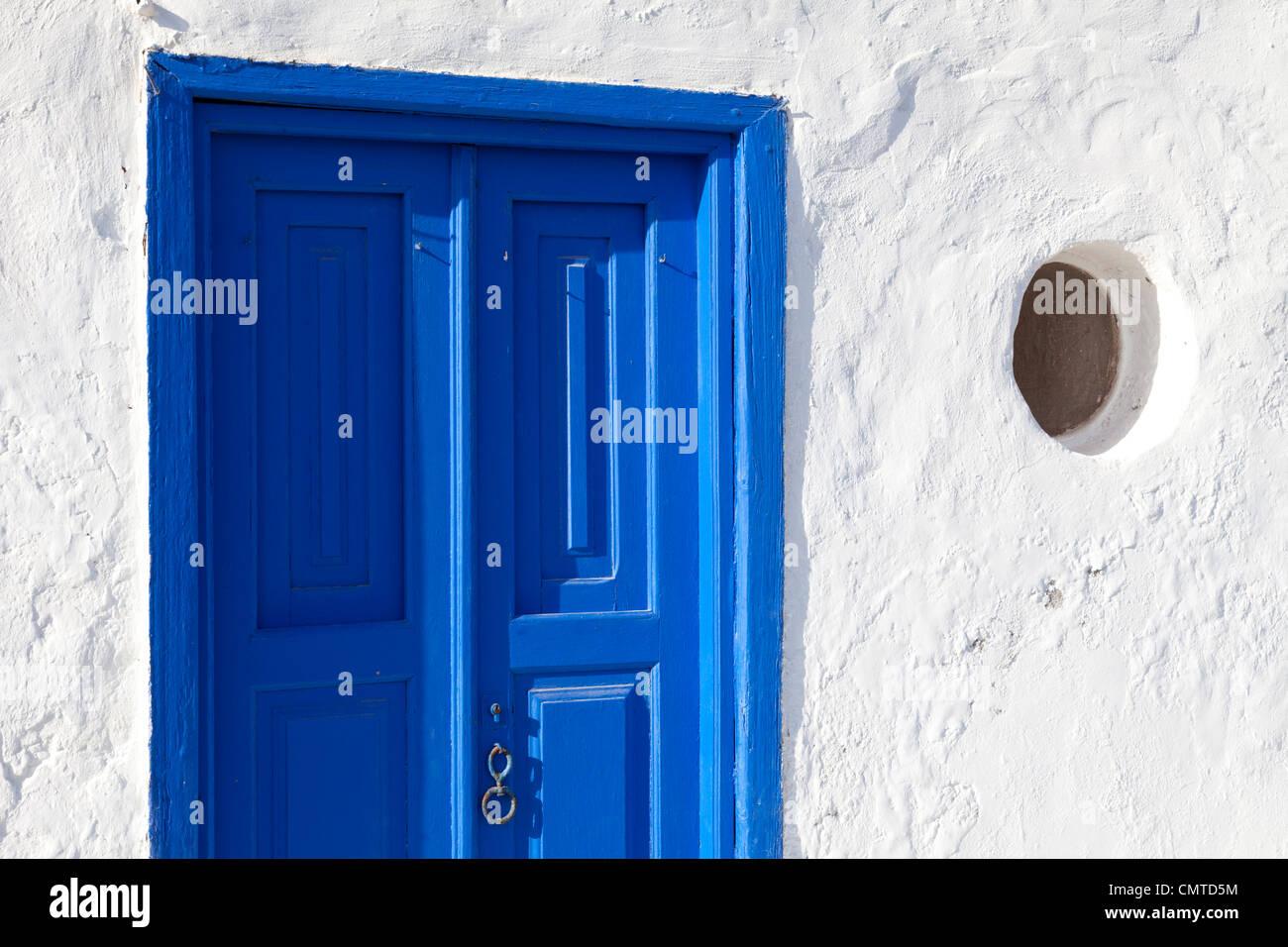 Porta blu su Fuerteventura Isole Canarie Immagini Stock
