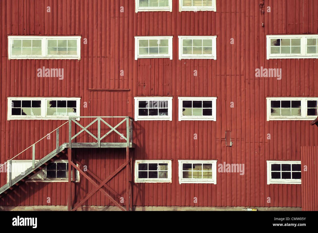 Facciata con windows Immagini Stock