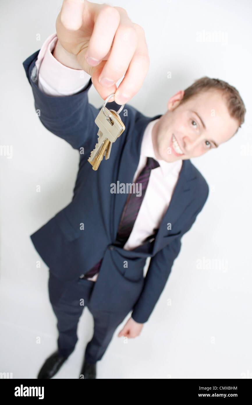 Agente immobiliare Immagini Stock