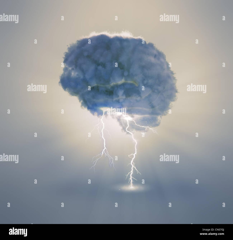Il brainstorming e il concetto di creatività illustrazione Foto Stock
