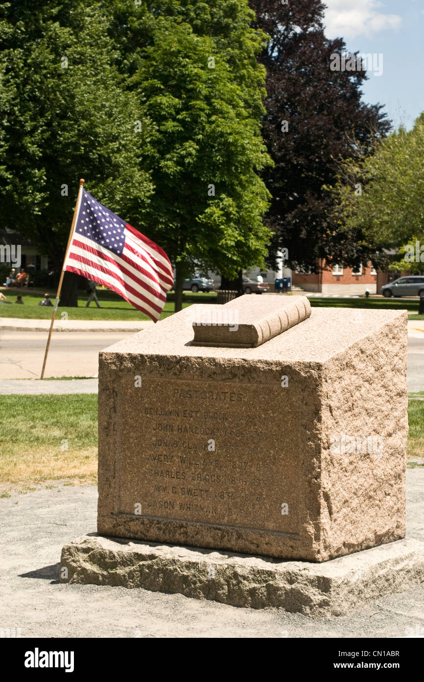 Lexington Massachusetts, Lexington Green, Foto Stock
