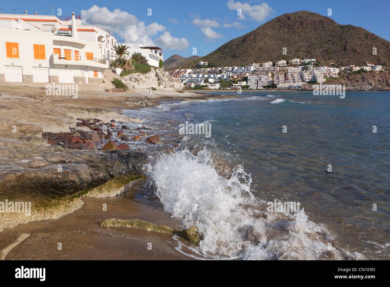 San Jose, Cabo de Gata-Nijar parco naturale, provincia di Almeria, Spagna. Immagini Stock