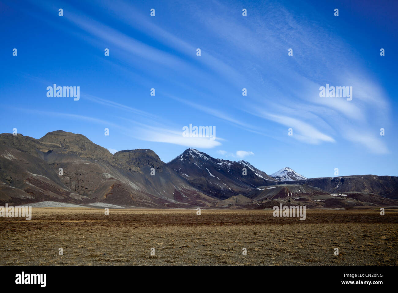 Islanda paesaggio - Thingvellir National Park Immagini Stock