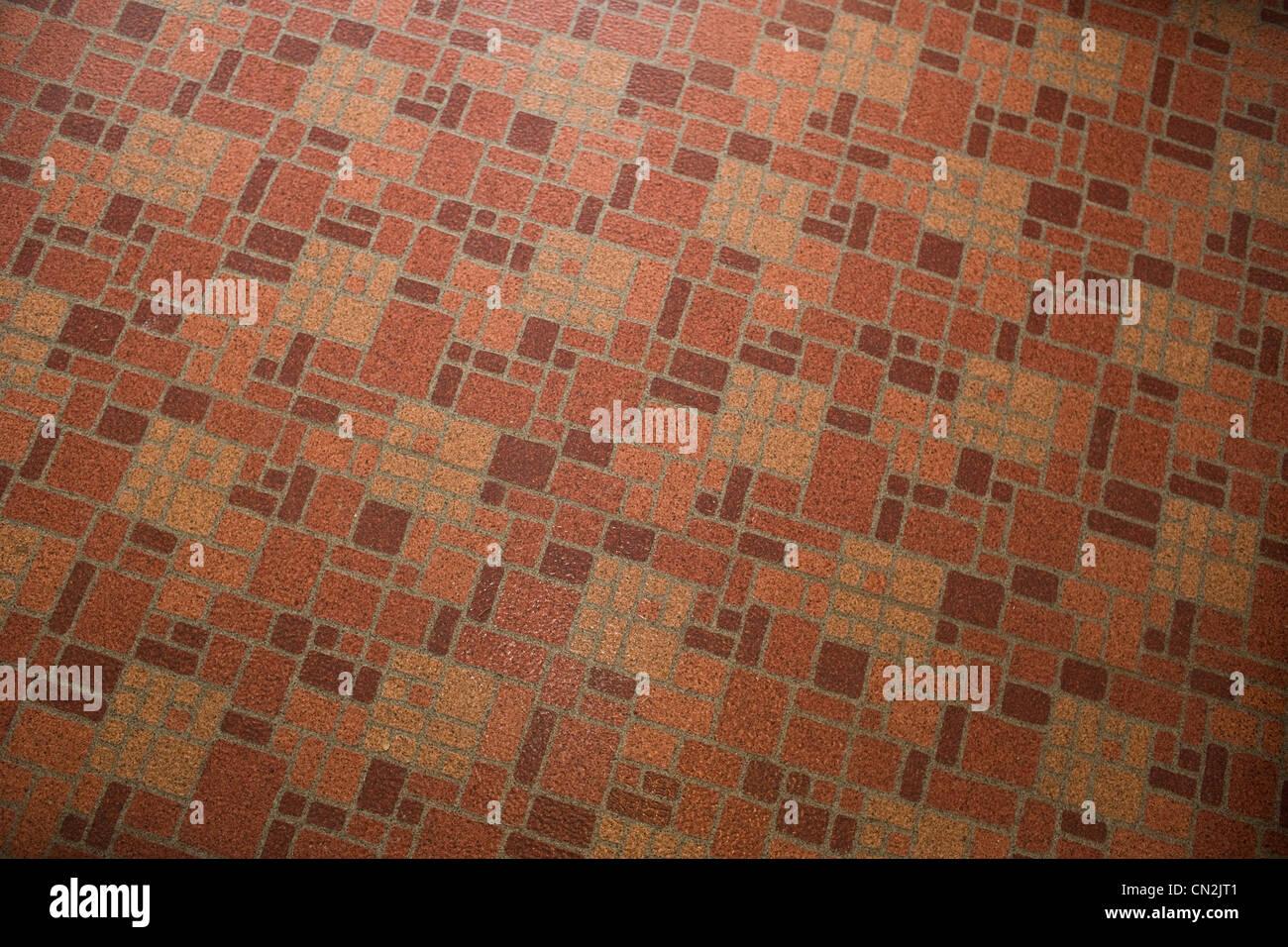 Pavimento in linoleum, full frame Immagini Stock