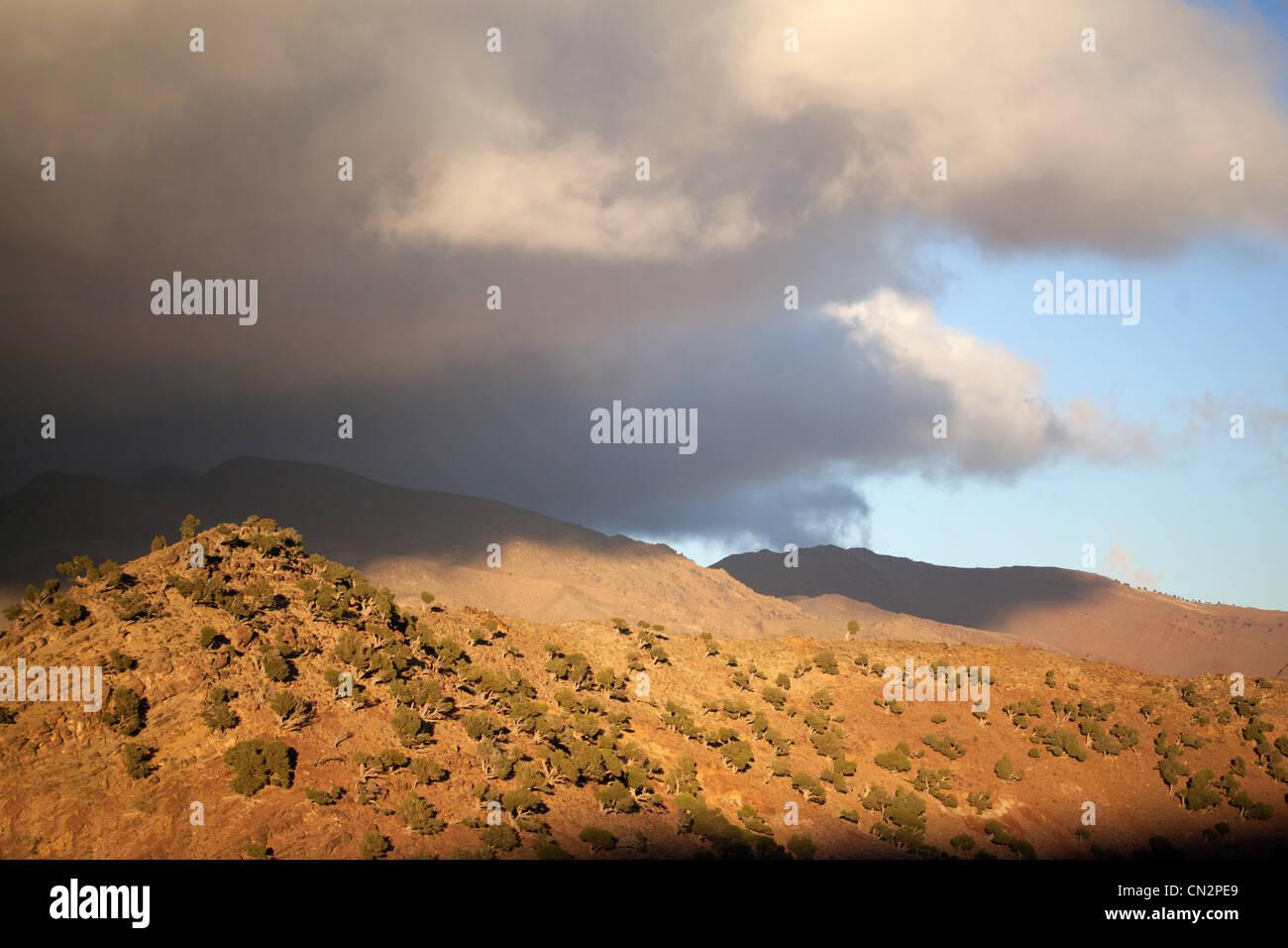 Paesaggio di montagna, Marocco, Africa del Nord Immagini Stock
