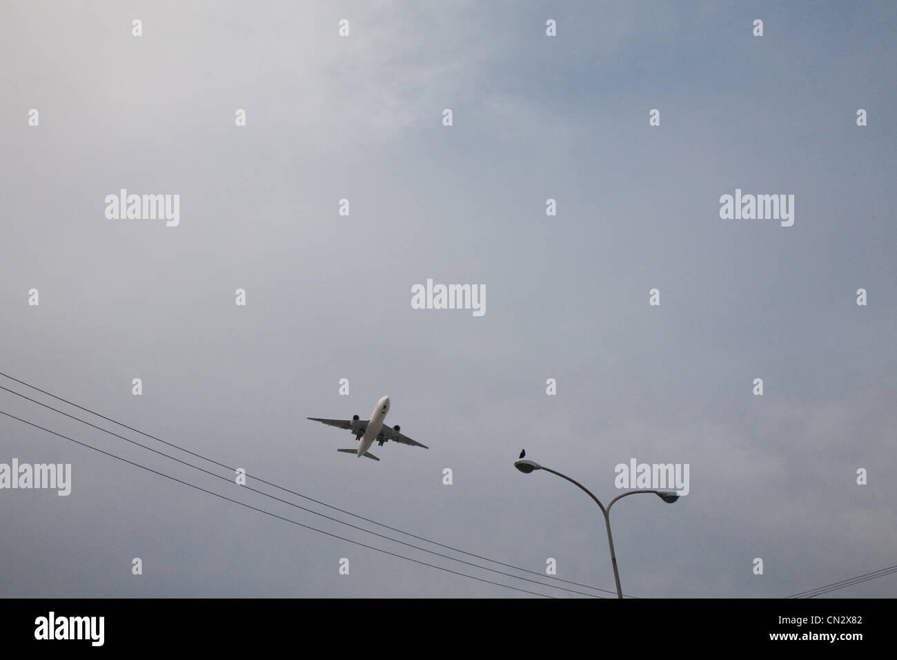 In aereo a basso angolo di visione Immagini Stock