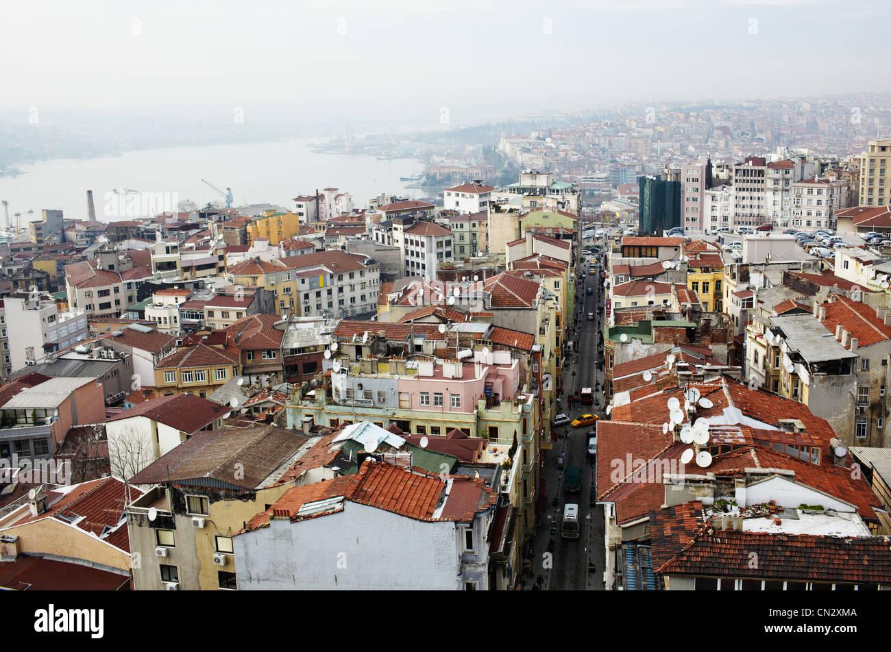 Edifici e tetti, Istanbul, Turchia Immagini Stock