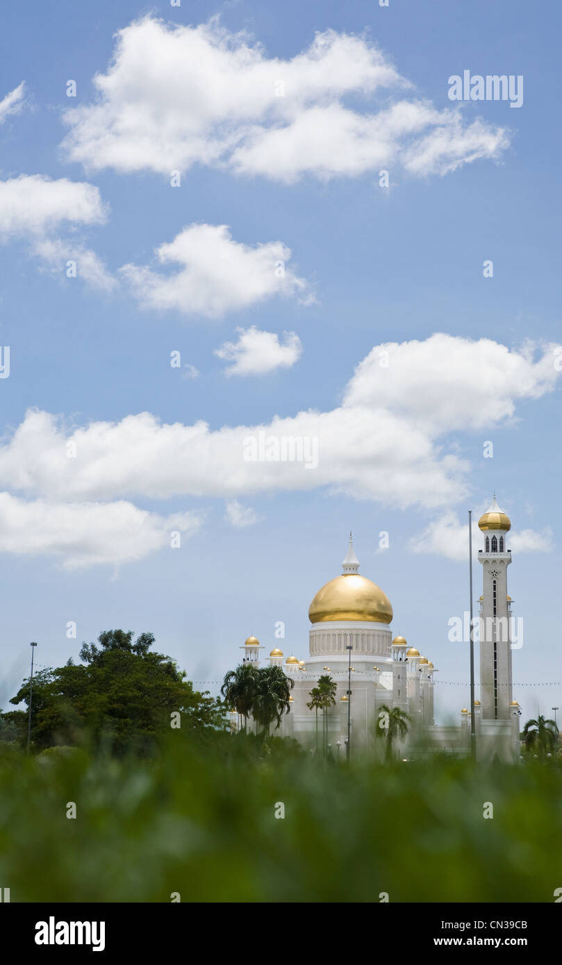 Il sultano Omar Ali Saifuddin Moschea, Bandar Seri Bagawan, Brunei Immagini Stock