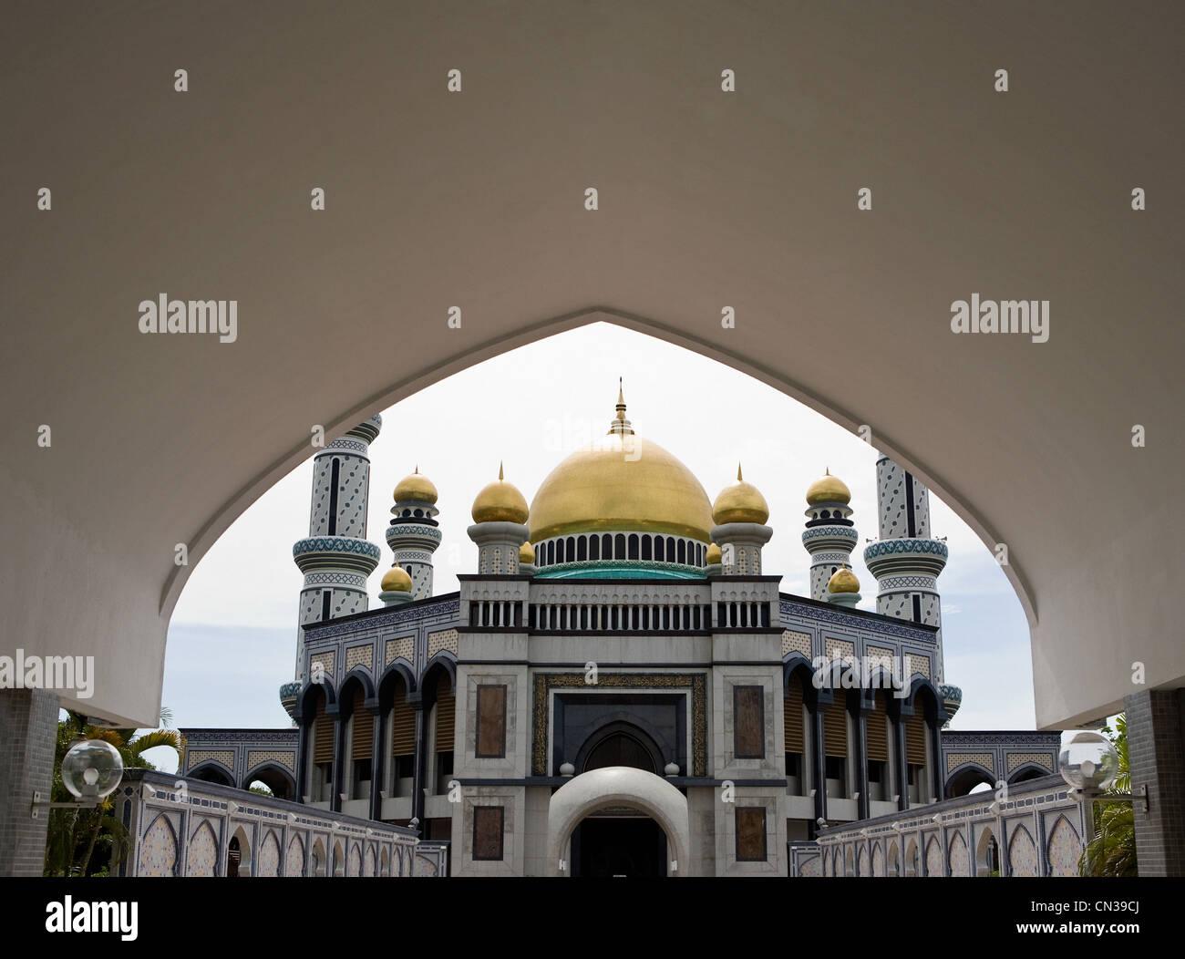 Jame' asr Hassanal Bolkiah moschea, Bandar Seri Bagawan, Brunei Immagini Stock