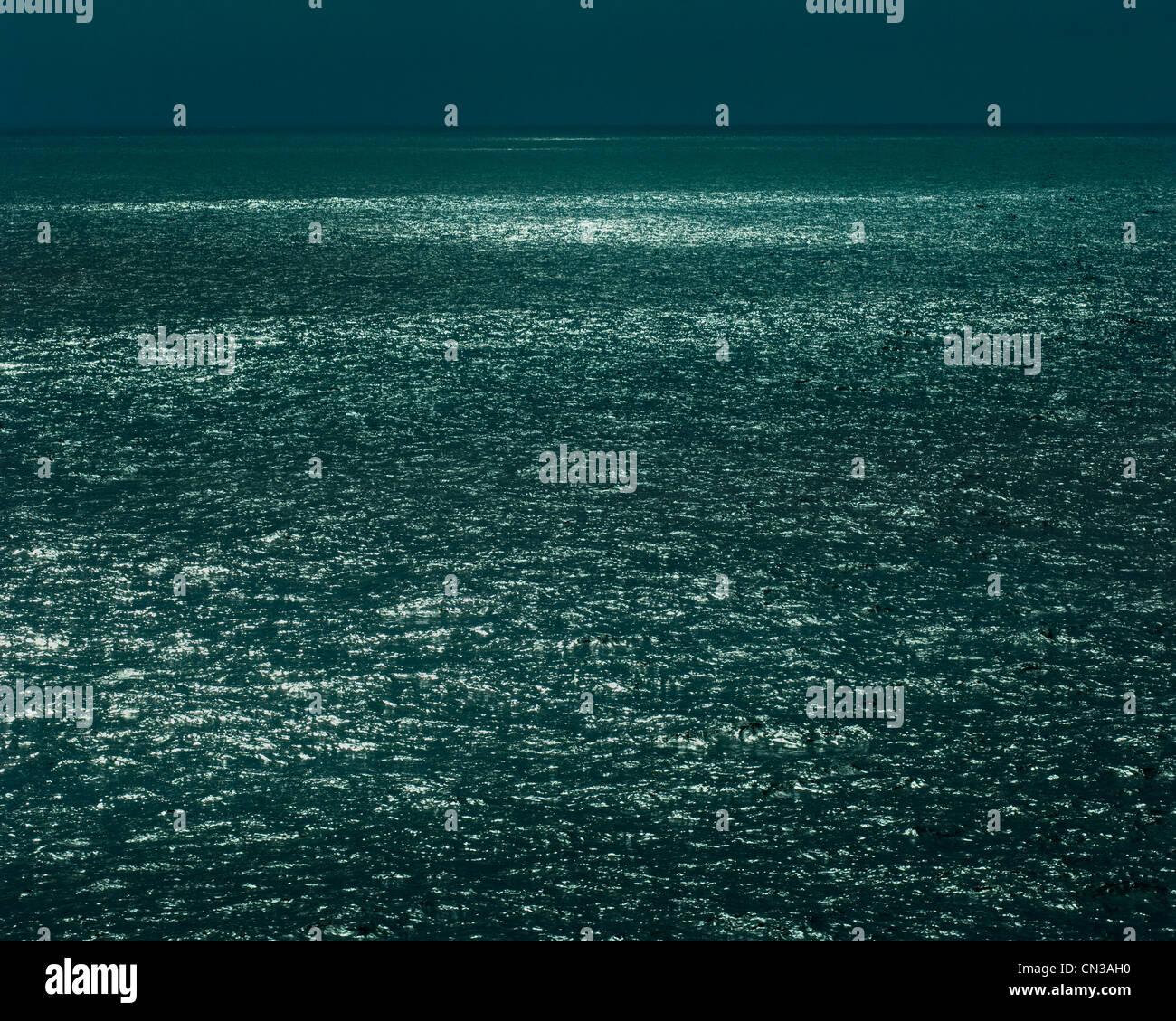 La superficie del mare e l'orizzonte Immagini Stock