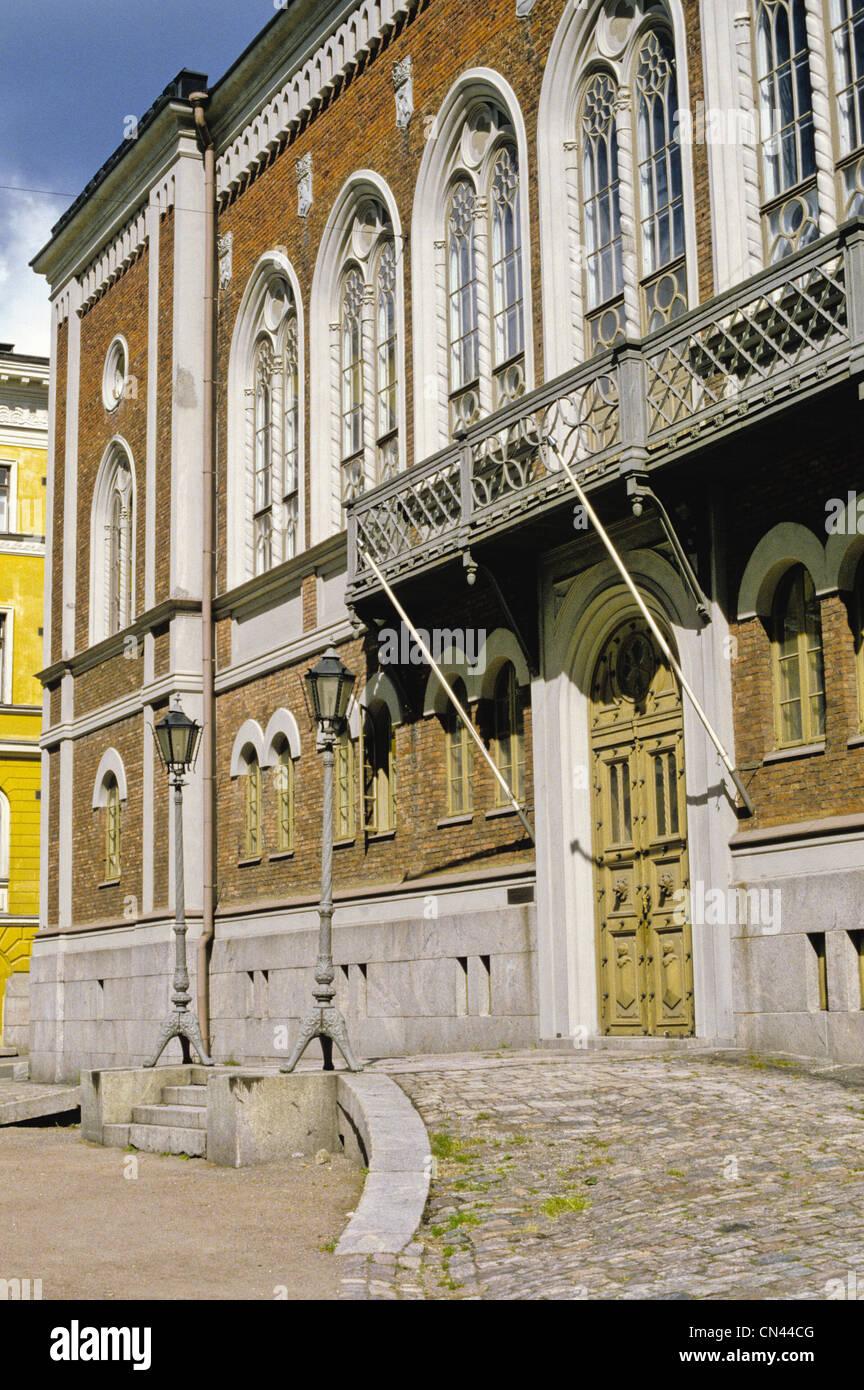 Il 1862 in stile neo-gotico casa finlandese di nobiltà, Ritarihuone progettato da G.T. Chiewitz a Helsinki Immagini Stock