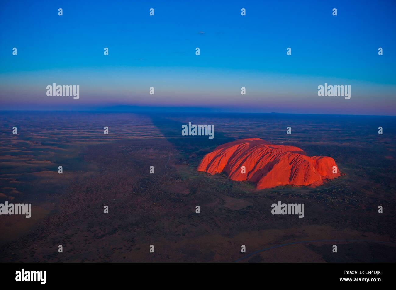 Australia, Territorio del Nord, Uluru-Kata Tjuta National Park sono classificati come patrimonio mondiale dall' Foto Stock
