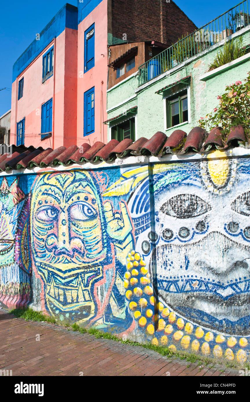 La Colombia, Cundinamarca Dipartimento, Bogotà, La Candelaria District Immagini Stock