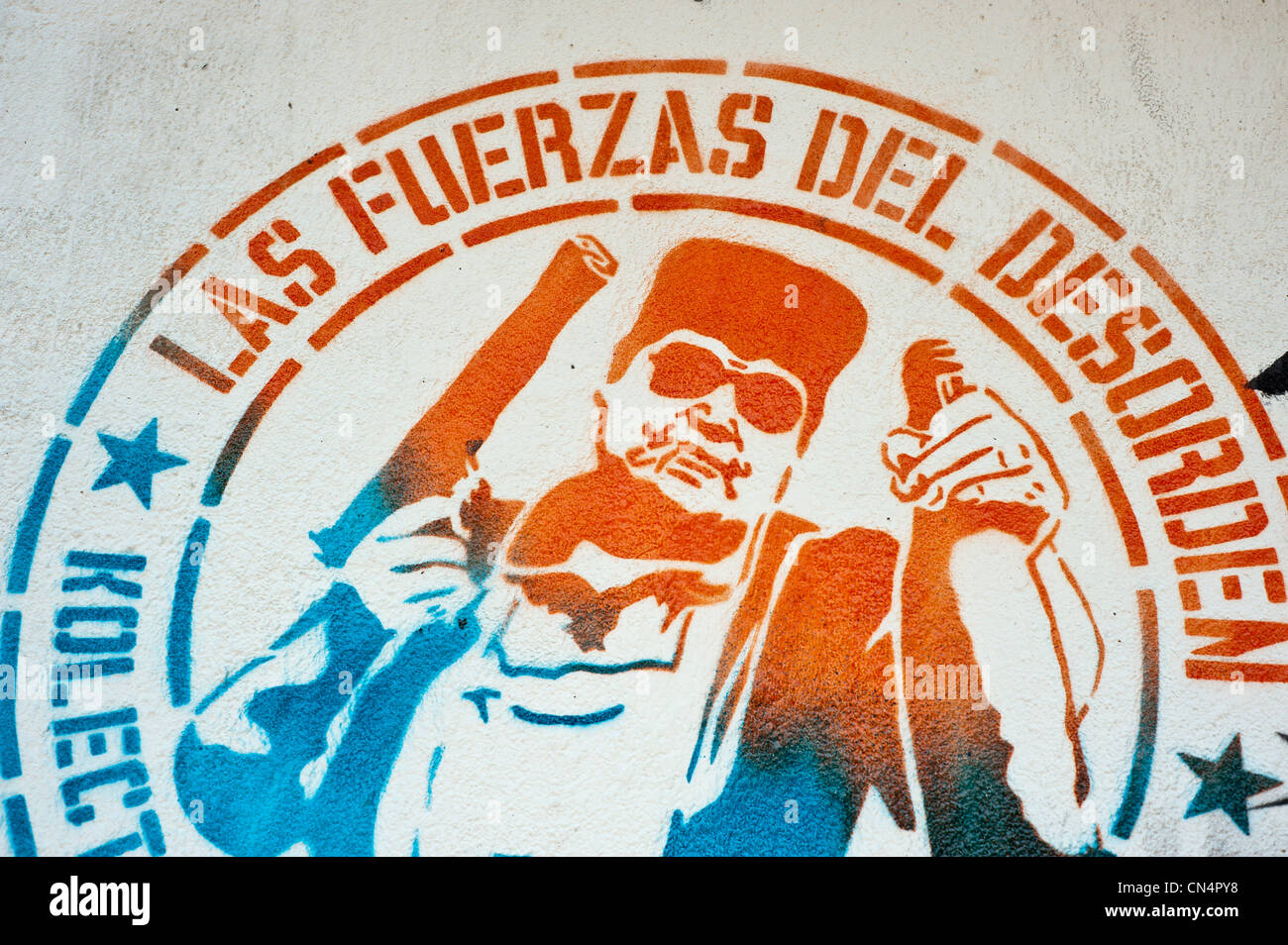 La Colombia, Dipartimento di Cundinamarca Bogotà, Quartiere di downtown, murale Immagini Stock
