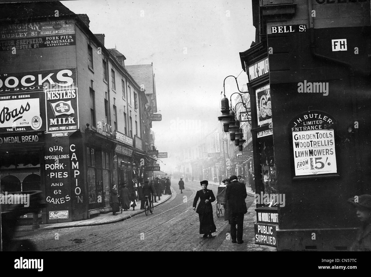 Victoria Street, Wolverhampton, c 1910. Immagini Stock