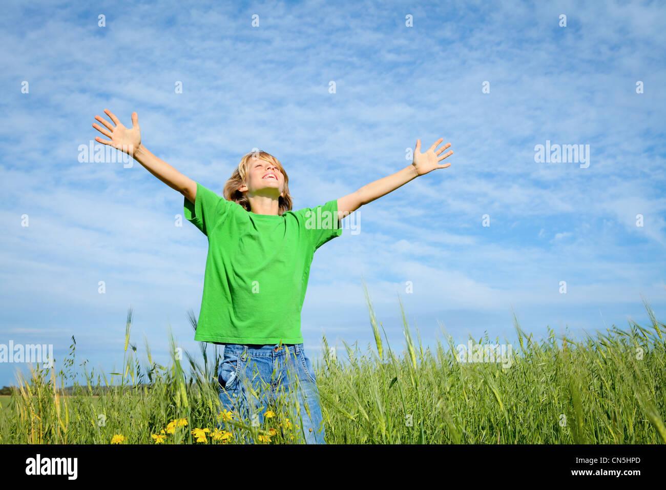 Estate felice kid Immagini Stock