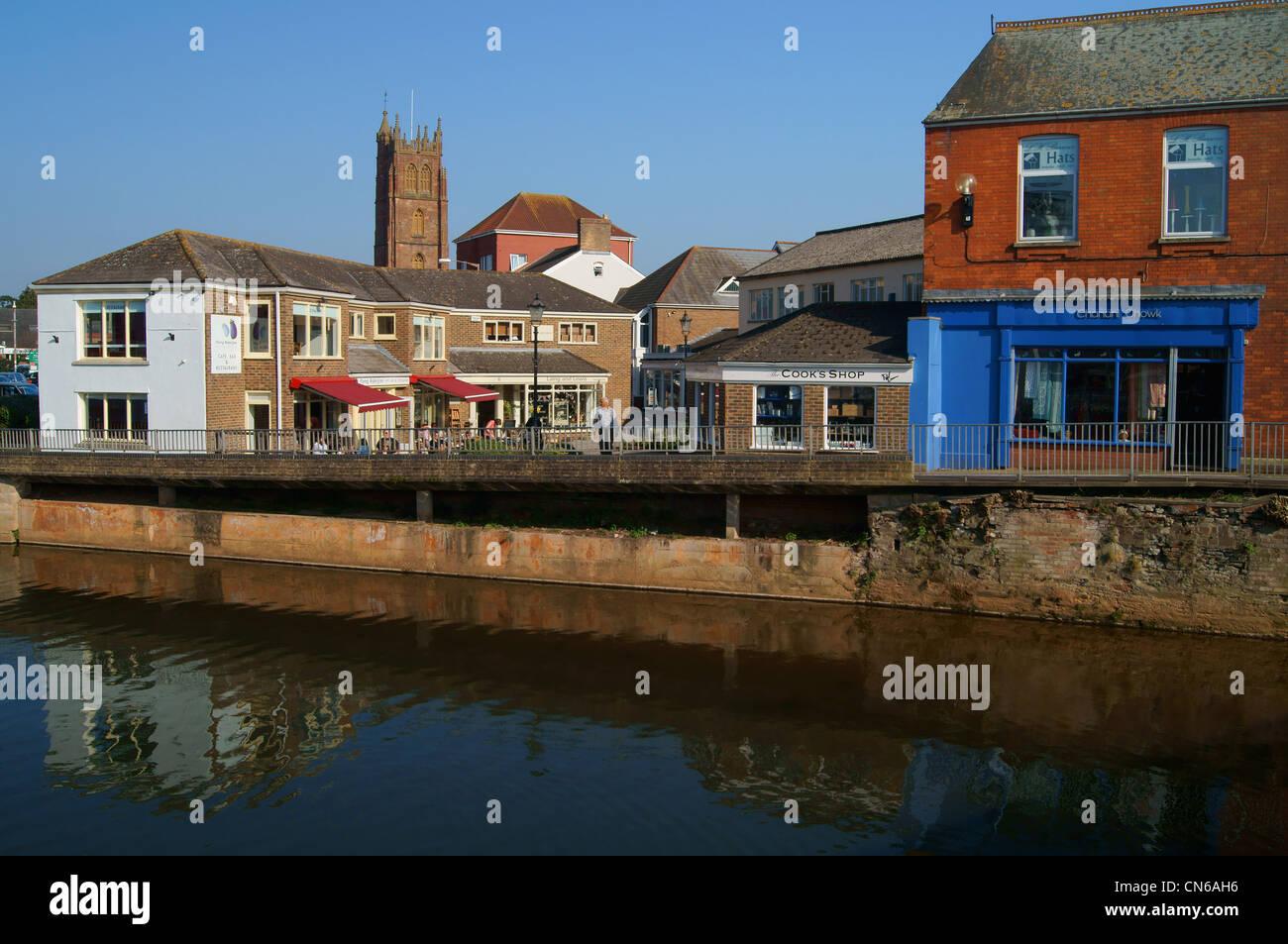 Riverside Luogo dal tono di fiume,Taunton, Somerset Immagini Stock