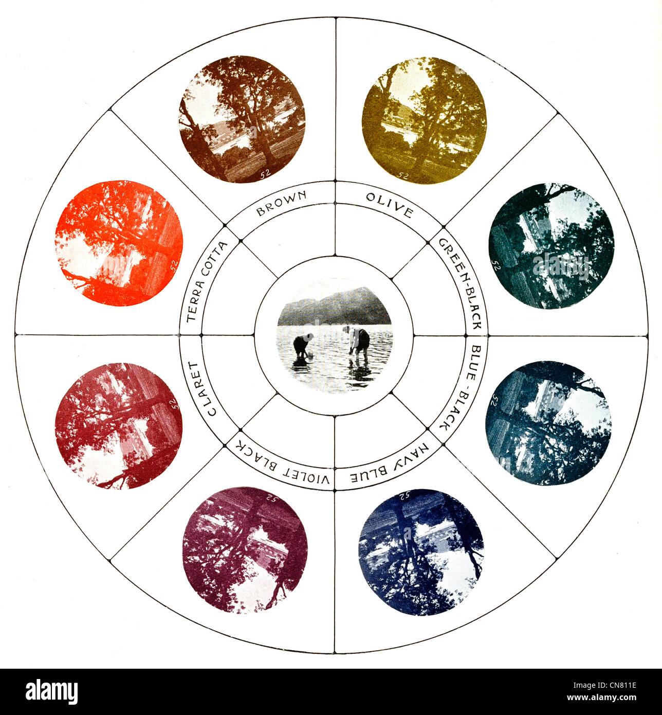 Tabella dei colori per la miscelazione di mezzo tono inchiostri di stampa Immagini Stock