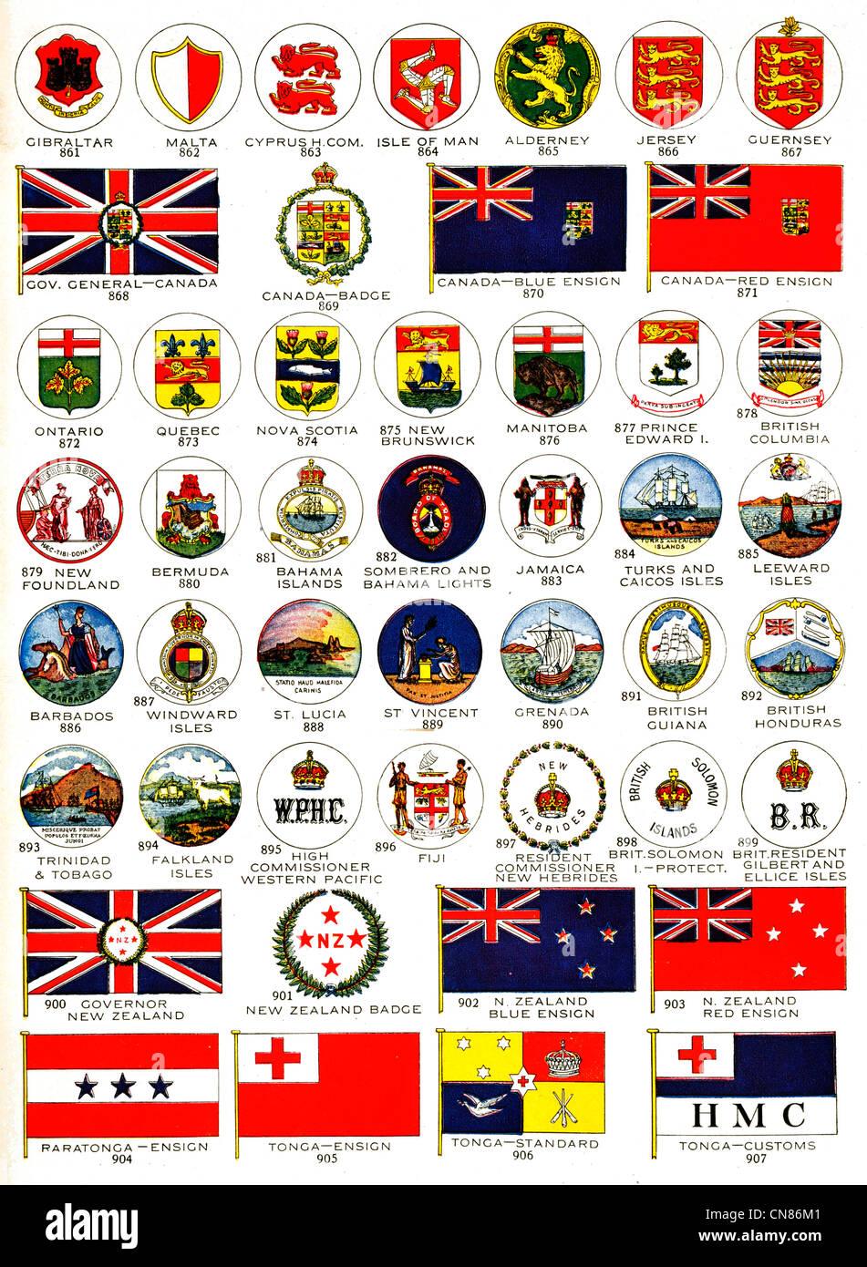 Pubblicato Per La Prima Volta 1917 Bandiere Bandiera Standard
