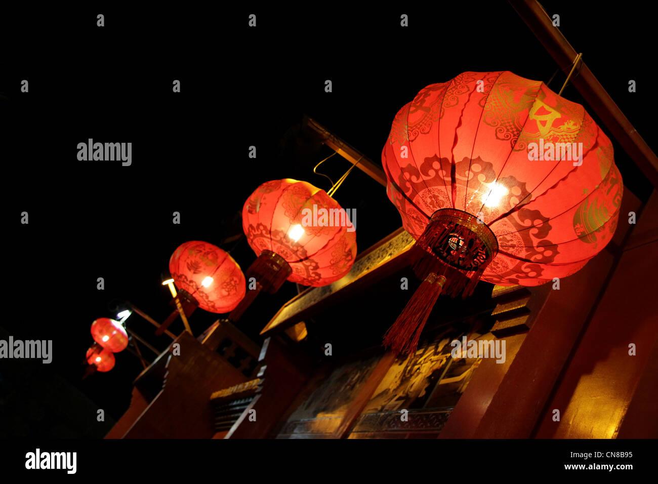 Lampade Cinesi Di Carta.Lanterna Di Carta Lampade Cinesi Foto Immagine Stock