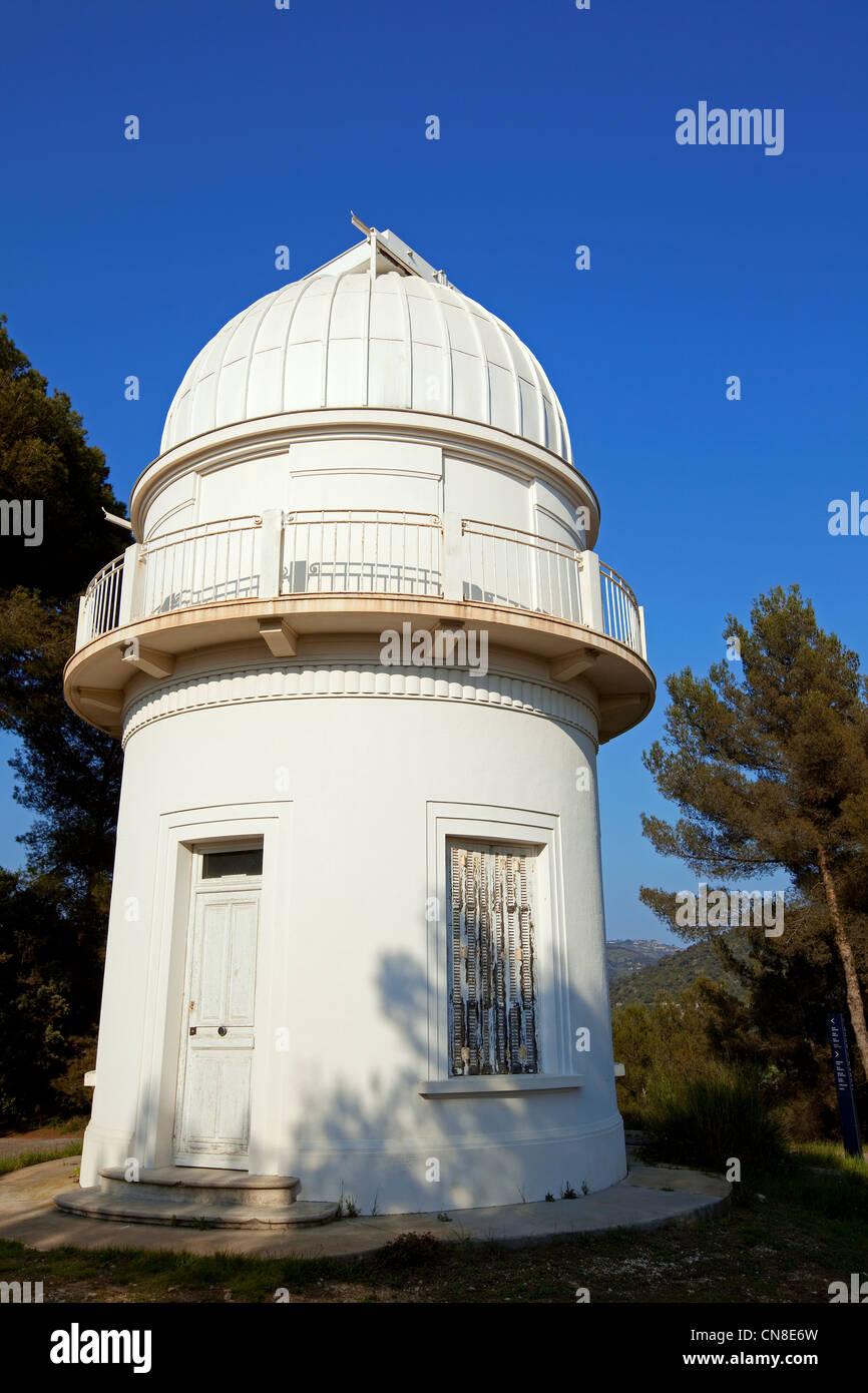 Francia, Alpes Maritimes, Nizza, Mont Gros, l'osservatorio è stato istituito nel 1881 da filantropo Raphael Immagini Stock