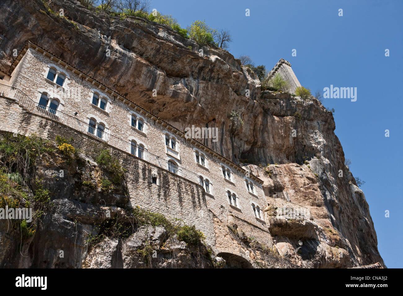 Francia, Lot, Rocamadour, ex Ospitalità Immagini Stock