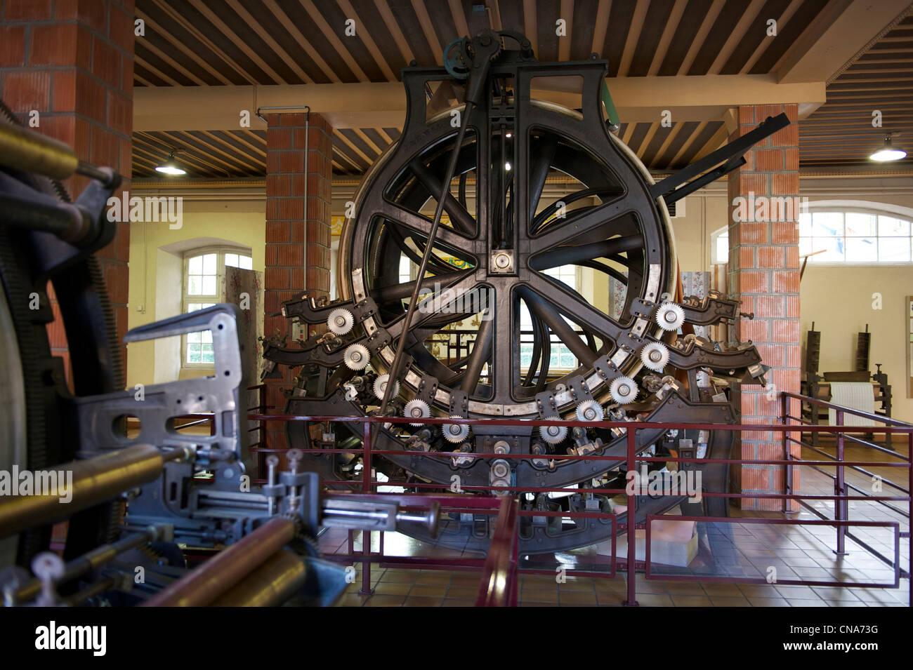 Francia, Haut Rhin, Mulhouse, Rixheim, museo della tappezzeria Immagini Stock