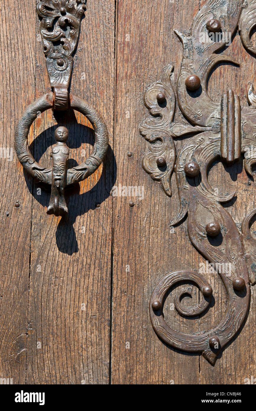 Francia, Pirenei orientali, Castelnou etichettati Les Plus Beaux Villages de France (i più bei villaggi di Francia), il Foto Stock