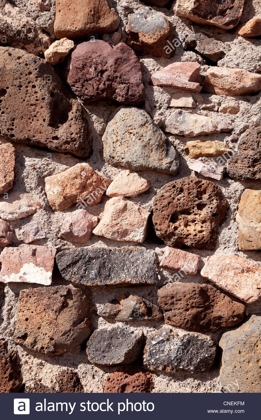 La texture di sfondo parete di roccia Immagini Stock