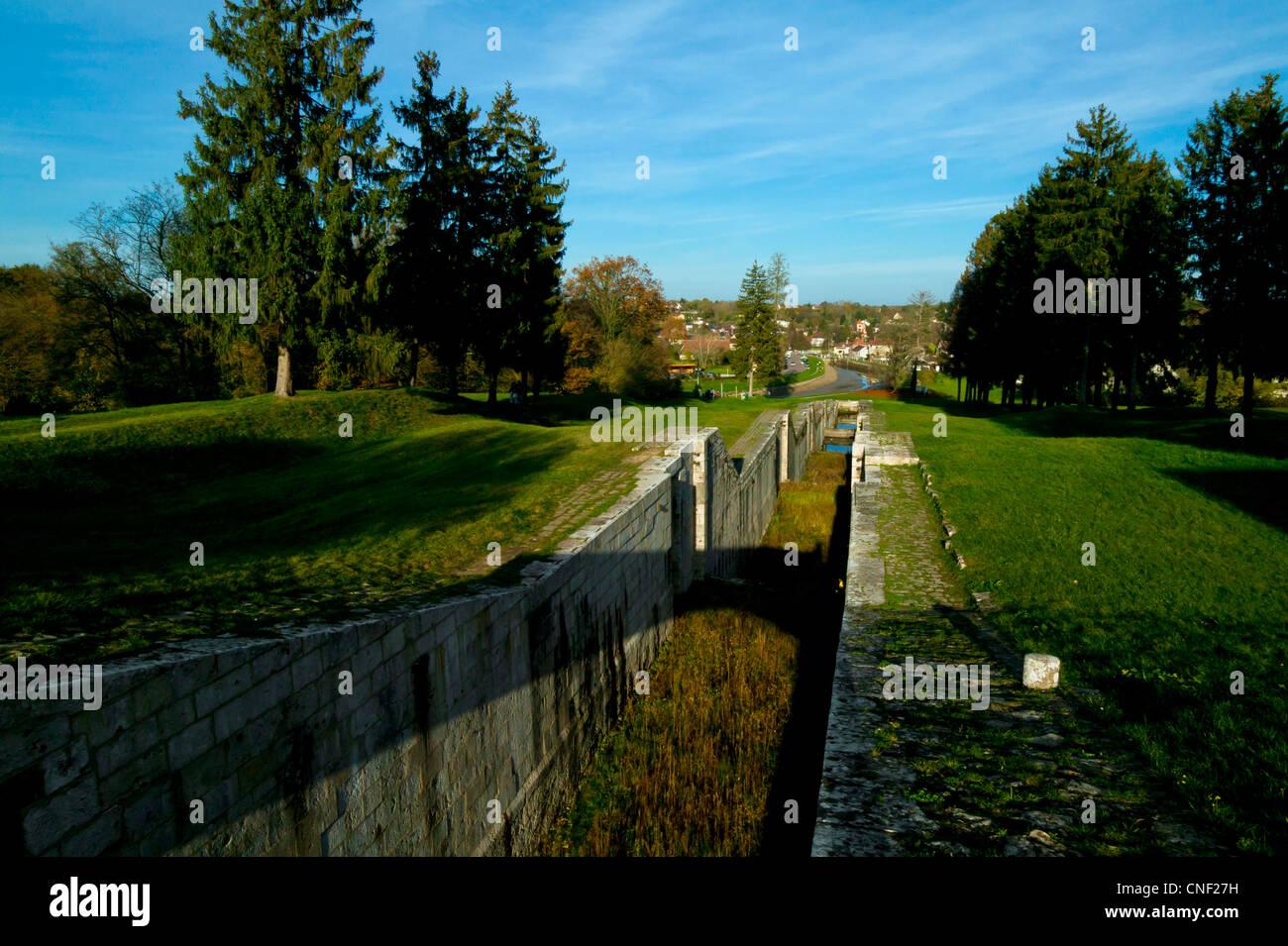 Rogny Les Sept Ecluses, Yonne,Borgogna, Francia Foto Stock