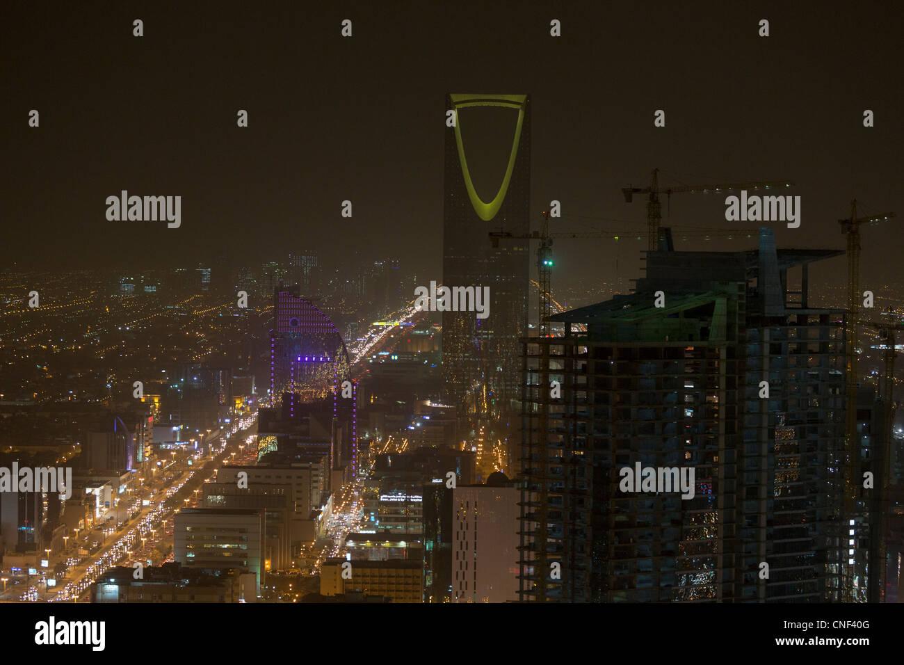 Vista di Riyadh, Arabia Saudita Immagini Stock